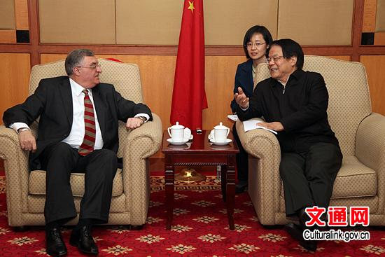 文化部部长会见格鲁吉亚驻华大使大卫·阿普茨奥利